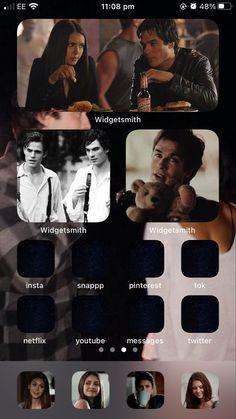 Plain Wallpaper Iphone, Cute Laptop Wallpaper, Iphone Life Hacks, Iphone App Layout, Vampire Diaries Wallpaper, Phone Themes, Ios Wallpapers, Ios Icon, Homescreen