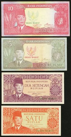 Indonesia Irian Barat 2 10 Rupiah 1961 Pick These notes are technically referred to as the West Irian Rupiah. Due to political reasons stemming from colonial times, West New Guinea (now the West Papua Region in Indonesia), was no
