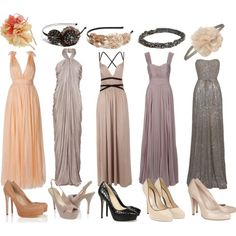 Mix-matched bridesmaids cute idea if the color tones are similar.. not really sure @Nicole Denaro