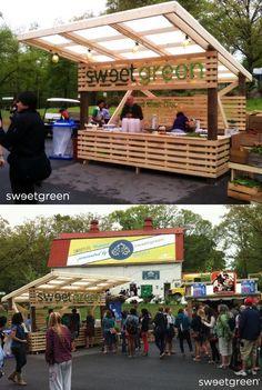 outdoor plywood carnival vendor kiosk - Google Search