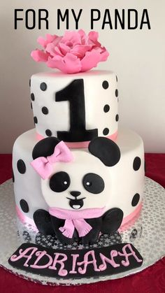 Panda Birthday Cake, Baby Birthday Cakes, Bolo Panda, Comida Para Baby Shower, Panda Baby Showers, Burger Cake, Torta Baby Shower, Panda Cakes, Panda Party