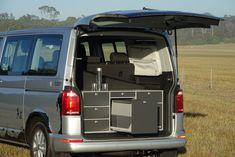VanEssa mobilcamping Australia kitchen, Packbags, and mattress.