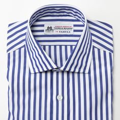 FAIRFAX / English Spread London Striped Shirt (Blue)   FITZGERALD BY FAIRFAX