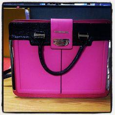 Pink & Black River Island Bag