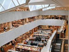 Academic bookstore in Helsinki. Designed by Alvar Aalto.