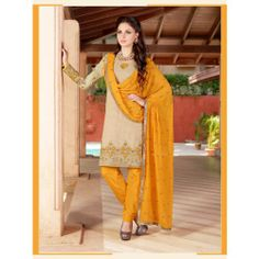 Way to Shop Charming Cotton Embroidered Casual wear Salwar Kameez Suit