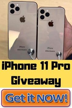 Free iPhone 11 Giveaway - Chance to Win a New iPhone 11 Pro - Free Prize Zone Iphone Pro, New Iphone, Apple Iphone, Iphone Operating System, Nouvel Iphone, Free Iphone Giveaway, Get Free Iphone, Simple Signs, Online Sweepstakes