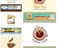 Coffee cup business cards vector