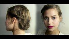 Side Twist Updo Hair Tutorial, via YouTube.