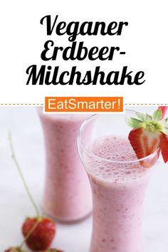 Vegan abnehmen: Veganer Erdbeer-Milchshake - kalorienarm - schnelles Rezept - einfaches Gericht - So gesund ist das Rezept: 9,0/10 | Eine Rezeptidee von EAT SMARTER | Essen im Büro, Büro Snacks, Blitzrezepte, Rezepte zum Mitnehmen, Einfache, für 2 Personen, Für jeden Tag, Picknick, Süße, Getränke, Alkoholfrei Getränke, Lassi, Mixgetränk, Shake, Erdbeershake, Milchshake, Erdbeer-Smoothies, Obst Smoothies, Brunch, Frühstück, Süßes Frühstück #erdbeershake #gesunderezepte New Recipes, Crockpot Recipes, Strawberry Delight, Round Roast, Baked Yams, Best Oatmeal, Balsamic Beef, Steak And Eggs, Eat Smarter