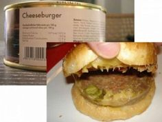 Cheeseburger | Community Post: 30 Canned Foods You Never Knew Existed
