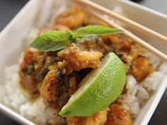 Coconut Curry Shrimp recipe from Ree Drummond via Food Network