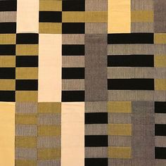 """Not one to rely on predictable symmetry, Anni Albers preferred experimenting with pattern sequences in her early Bauhaus weavings. This dynamic wallhanging """"Black White Yellow"""" (detail) is on view in """"Entangled: Threads and Making"""" at Turner Contemporary in Margate, England, through May 7, 2017. The exhibition features forty female artists working in sculpture, textiles, installation, and jewelry whose work challenges established definitions of craft, design, and fine art. (Anni Albers…"""