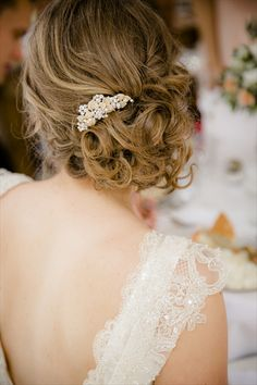 Bridal hair - side updo,