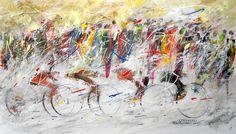 """""""CORIANDOLI"""" -  opera di Roberto Sironi - acrilico su tela - 40 x 70"""