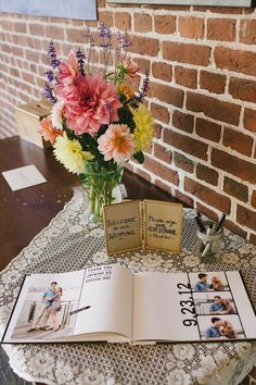 Love the idea of photos in the guest book! I offer something like this as well in addition to plain guest books in the photo album design :) So personal!