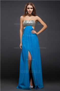 Empire Strapless Floor-length Chiffon Evening Dress