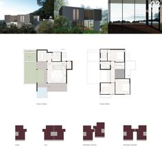 Housing cmplex on the Garda Lake - plans and views