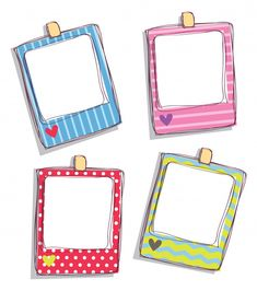 Cute picture frame ideas for friends images drawing stock photo set Cute Picture Frames, Cute Frames, Bullet Journal Ideas Pages, Bullet Journal Inspiration, Printable Stickers, Planner Stickers, Note Doodles, School Frame, Polaroid Frame