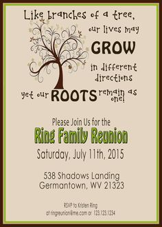 Family Reunion Invit