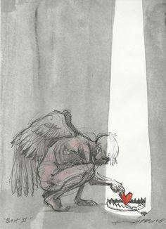 Do not be afraid of me . I do not want to hurt you . I'm not looking - Zeichnungen traurig - Art Dark Art Drawings, Drawing Sketches, Dark Art Illustrations, Cartoon Drawings, Derek Hess Art, Arte Sketchbook, Sad Art, Disney Cartoons, Art Inspo