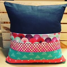 Scrappy Strip Design Pocket Pillow by thescrappyquilter22 on Etsy