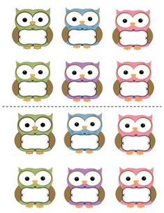 JOB CARDS: OWL THEME - TeachersPayTeachers.com