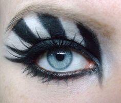 Zebra Eyeshadow, Blonde Eyebrows