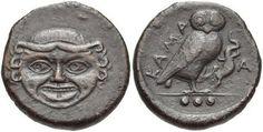 SICILY, Kamarina. Circa 420-405 BC. Æ Tetras