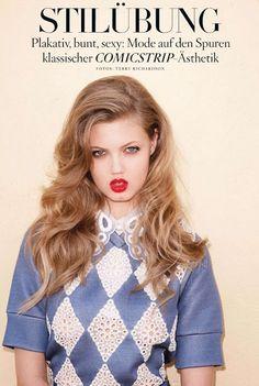 """""""Stilubung""""  Terry Richardson, um dos meus fotógrafos prediletos, clicou a modelo Lindsey Wixson para a Vogue Germany, maio 2012. Dá só uma olhadinha!!"""