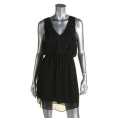 Charlie Jade Womens Chiffon Eyelet Casual Dress