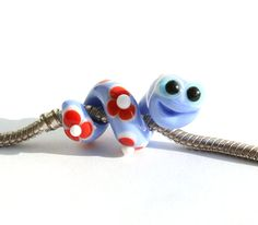 bookworm glass charm bead snake lampwork big hole bead bhb bead charm bracelet european. Black Bedroom Furniture Sets. Home Design Ideas