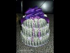 How To Make A Money Cake - YouTube