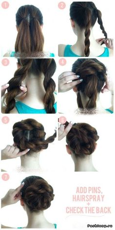 Twist up do- but braided --Want to do this with my daughter's hair! :)