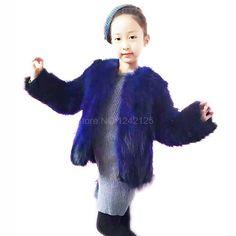 63.49$  Buy here - New spring autumn winter kids Children fur clothing real raccoon fur coat girl raccoon fur coat jacket outerwear clothes outdoor  #aliexpressideas
