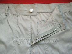 Como costurar um zíper na calça.  Processing codpiece