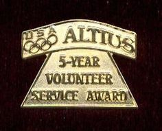 USOC ALTIUS 5 Year Service Award United States Olympic Committee Lapel Pin | eBay