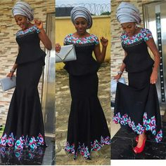 Check Out This Aso Ebi Skirt and Blouse Design