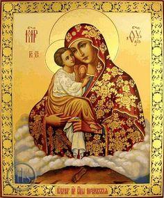 "Virgin Mary ""Pochaevskaya"", Orthodox Christian Icon - at Holy Trinity Store Religious Pictures, Religious Icons, Religious Art, Blessed Mother Mary, Blessed Virgin Mary, Sainte Marie, Mary And Jesus, Byzantine Icons, Orthodox Christianity"