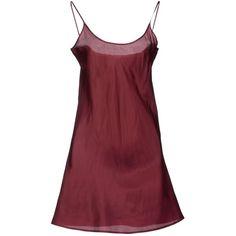 Liu •jo Jeans Knee-length Dress (395 VEF) ❤ liked on Polyvore featuring dresses, maroon, red sleeveless dress, maroon dress, knee high dresses, pocket dress and no sleeve dress