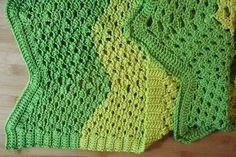 Turtle Shell Ripple Afghan | Use the shell stitch to create this turtle-tastic cochet afghan pattern.