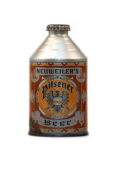 Vintage beer can