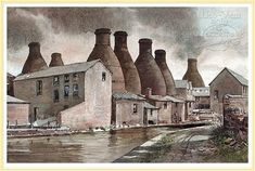 A Pottery Skyline - Heritage Painting
