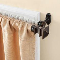 Kenney Arts and Crafts 28 in. - 48 in. Telescoping 5/8 in. Double Curtain Rod Kit in Oil Rubbed Bronze with Finial-85030REM - The Home Depot