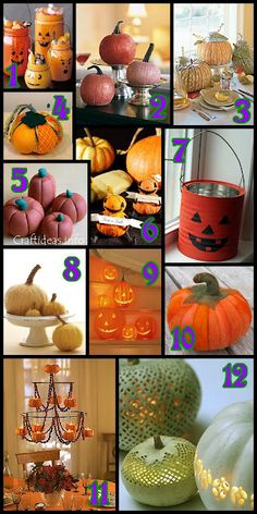 Fall and Halloween Pumpkin Projects