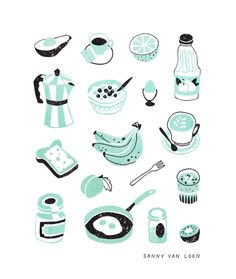 Illustrations for the Breakfast Book by Flow Magazine | Sanny van Loon  www.sannyvanloon.com
