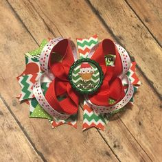 Christmas Holiday Hair Bow red green season toddler baby girl hairbow hair accessory #bowtifulblessings
