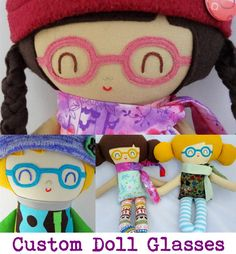 Warm Sugar Doll Glasses  eyeglasses for doll  customized doll accessories  glasses for custom doll  cloth doll