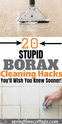 Borax is an ingredient in many household cleaning products, including air fresheners, cleaning sprays, laundry detergents, and even insecticides. Here are more than 20 ways to use borax to clean your Borax Cleaning, Diy Home Cleaning, Household Cleaning Tips, Homemade Cleaning Products, Deep Cleaning Tips, Cleaning Recipes, House Cleaning Tips, Natural Cleaning Products, Cleaning Solutions