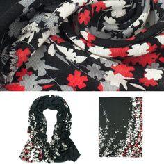Dahlia Women's Fine Merino Wool Pashmina Scarf (80s) - Winter Jasmine